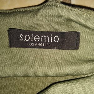 Solemio Dresses - Solemio Army Green Cut out Bodycon Dress
